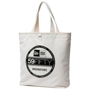 ニューエラ バッグ キャンバス トートバッグ バイザーステッカー アイボリー ブラック New Era Bag Canvas Tote Bag Visor Sticker Ivory Black cio