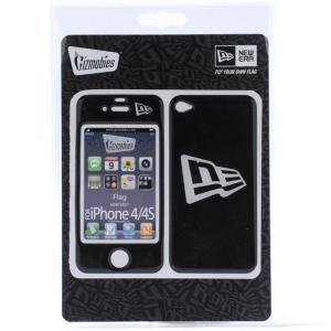ギズモビーズ×ニューエラ アイフォーン(アイフォン)4/4S カバー フラッグロゴ ブラック ホワイト Gizmobies×New Era iPhone4/4S Cover Flag Logo Black White|cio
