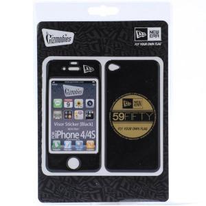 ギズモビーズ×ニューエラ アイフォーン(アイフォン)4/4S カバー バイザーステッカー ブラック ゴールド Gizmobies×New Era iPhone4/4S Cover Visor Sticker|cio