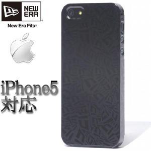 ニューエラ アイフォーン(アイフォン)5ケース フラッグロゴ オールオーバー ブラック New Era iPhone5 Case Flag Logo All Over Black|cio