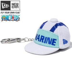 ワンピース×ニューエラ キャップキーホルダー 海軍 オプティックホワイト オフィシャルカラー One Piece×New Era Key Ring Marine Optic White Official Color|cio