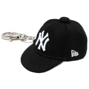 ニューエラ キャップキーホルダー ニューヨークヤンキース ブラック ホワイト New Era Cap Key Holder New York Yankees Black White|cio