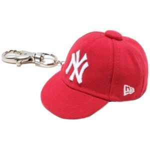 ニューエラ キャップキーホルダー ニューヨークヤンキース スカーレット ホワイト New Era Cap Key Holder New York Yankees Scarlet White|cio