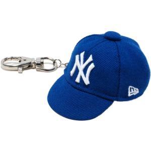 ニューエラ キャップキーホルダー ニューヨークヤンキース ブライトロイヤル ホワイト New Era Cap Key Holder New York Yankees Bright Royal White|cio