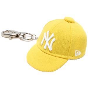 ニューエラ キャップキーホルダー ニューヨークヤンキース サイバーイエロー ホワイト New Era Cap Key Holder New York Yankees Cyber Yellow White|cio