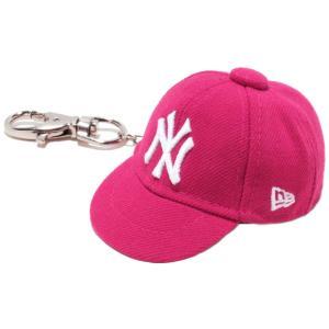 ニューエラ キャップキーホルダー ニューヨークヤンキース ブライトローズ ホワイト New Era Cap Key Holder New York Yankees Bright Rose White|cio