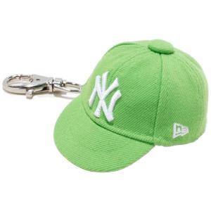 ニューエラ キャップキーホルダー ニューヨークヤンキース ライム ホワイト New Era Cap Key Holder New York Yankees Lime White|cio