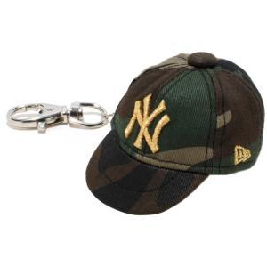 ニューエラ キャップキーホルダー ニューヨークヤンキース ウッドランドカモ メタリックゴールド New Era Cap Key Holder New York Yankees Woodland Camo Gold|cio