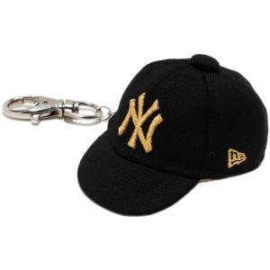 ニューエラ キャップキーホルダー ニューヨークヤンキース ブラック メタリックゴールド New Era Cap Key Holder New York Yankees Black Metallic Gold|cio