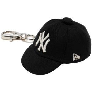 ニューエラ キャップキーホルダー ニューヨークヤンキース ブラック メタリックシルバー New Era Cap Key Holder New York Yankees Black Metallic Silver|cio