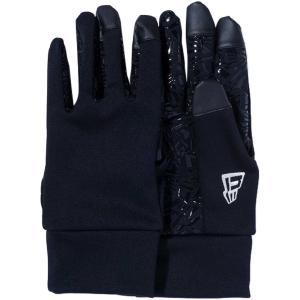 ニューエラ イータッチ フリースグローブ ウィンドプルーフ ストレッチ ブラック ホワイト New Era E Touch Fleece Glove Windproof Stretch Black White|cio