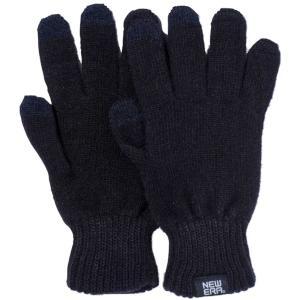 ニューエラ イータッチ ニットグローブ ブラック ホワイト New Era E Touch Knit Glove Black White|cio