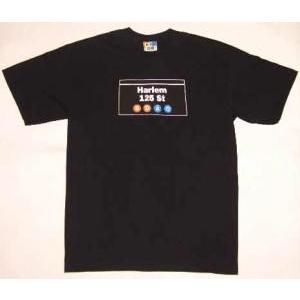 【SALE】NEW YORK SUBWAY LINE S/S TEE Harlem 125St. B.D.A.C.Black ニューヨークサブウェイライン S/S Tシャツ ハーレム125St ブラック|cio