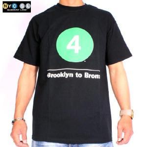 ニューヨークサブウェイライン S/S Tシャツブルックリン トゥ ブロンクス 4 ブラック New York Subway Line S/S T Shirt Brooklyn to Bronx 4 Black|cio