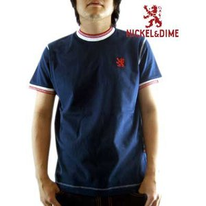 【SALE】NICKEL&DIME SS T-Shrit PARICOLLO MC JERSEY Navy  S/S Tシャツ パリコロ MC ジャージー ネイビー|cio