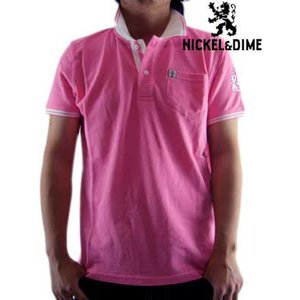 【SALE】NICKEL&DIME S/S Polo Shirt POLO PIQUET M C Pink ニッケル&ダイム S/S ポロシャツ ピケ M C ピンク|cio