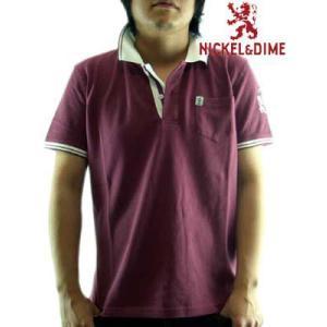 【SALE】NICKEL&DIME S/S Polo Shirt POLO PIQUET M C WineRed ニッケル&ダイム S/S ポロシャツ ピケ M C ワインレッド|cio
