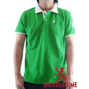【SALE】NICKEL&DIME S/S Polo Shirt POLO PIQUET M C Green ニッケル&ダイム S/S ポロシャツ ポロ ピケ M C グリーン|cio