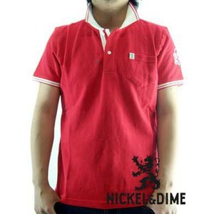 【SALE】NICKEL&DIME S/S Polo Shirt POLO PIQUET M C Red ニッケル&ダイム S/S ポロシャツ ポロ ピケ M C レッド|cio