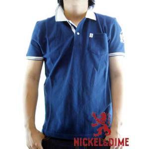 【SALE】NICKEL&DIME S/S Polo Shirt POLO PIQUET M C Navy ニッケル&ダイム S/S ポロシャツ ポロ ピケ M C ネイビー|cio