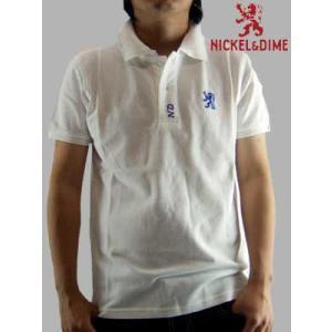 【SALE】NICKEL&DIME  S/S Polo Shirt PIQUET M C White ニッケル&ダイム S/S ポロシャツ ピケット M C ホワイト|cio