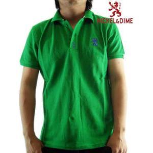 【SALE】NICKEL&DIME  S/S Polo Shirt PIQUET M C Green  ニッケル&ダイム S/S ポロシャツ ピケット M C グリーン|cio
