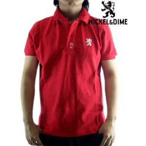 【SALE】NICKEL&DIME  S/S Polo Shirt PIQUET M C  Red ニッケル&ダイム S/S ポロシャツ ピケット M C レッド|cio