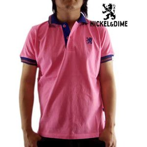 【SALE】NICKEL&DIME S/S Polo Shirt POLO M C JERSEY Pink ニッケル&ダイム S/S ポロシャツ ポロ M C ジャージー ピンク|cio