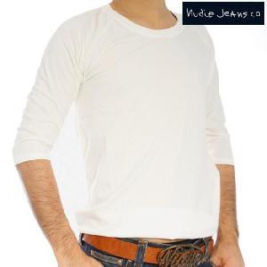ヌーディージーンズ Q/S Tシャツ クォータースリーブティー オフホワイト Nudie Jeans Q/S T-Shirt Quarter Sleeve Tee Offwhite|cio