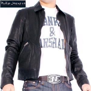 ヌーディー ジーンズ ジョニー レザー ジャケット ブラック 160095 JONNY|cio