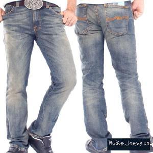 ヌーディージーンズ スリムジム オーガニック グリーニッシュウォーン Nudie Jeans Slim Jim Organic Greenish Worn|cio