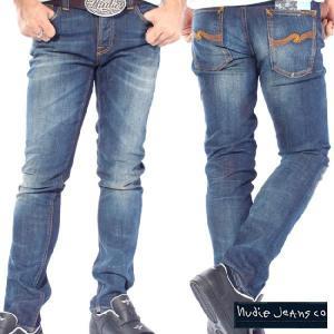 ヌーディージーンズ グリムティム オーガニック ホワイトニー Nudie Jeans Grim Tim Organic White Knee|cio