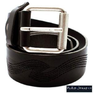 ヌーディー ジーンズ 32161-7038 レザー ベルト スワング エンボス ブラウン 32161-7038 Leather Belt Swomg Embo Brown|cio