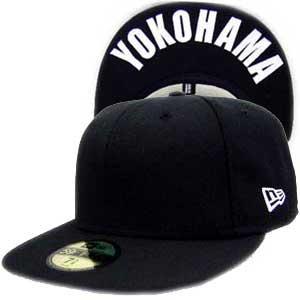ニューエラ キャップ アンダーバイザーシリーズ ヨコハマ ブラック プレーン/ホワイト New Era Cap UNDER VISOR Yokohama BlackPlain/White|cio