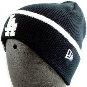 ニューエラ ニットキャップ ポップ カフ ニット ロサンゼルス ドジャース ブラック/ホワイト New Era KNIT CAP Pop Cuff Knit LosAngeles Dodgers Black/White|cio