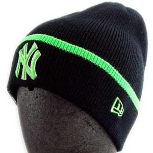 ニューエラ ニットキャップ ポップ カフ ニット ニューヨークヤンキース ブラック/ライムグリーン New Era KNIT CAP Pop Cuff Knit NewYork Yankees|cio