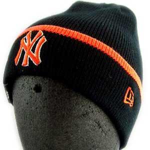 ニューエラ ニットキャップ ポップ カフ ニット ニューヨークヤンキース ブラック/オレンジ New Era KNIT CAP Pop Cuff Knit NewYork Yankees Black/Orange|cio