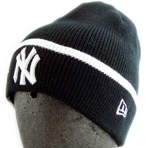 ニューエラ ニットキャップ ポップ カフ ニット ニューヨークヤンキース ブラック/ホワイト New Era KNIT CAP Pop Cuff Knit NewYork Yankees Black/White|cio