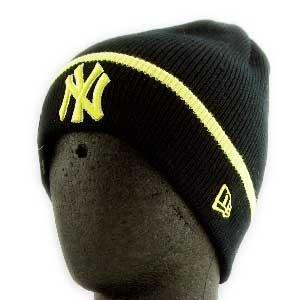 ニューエラ ニットキャップ ポップ カフ ニット ニューヨークヤンキース ブラック/イエロー New Era KNIT CAP Pop Cuff Knit NewYork Yankees Black/Yellow|cio