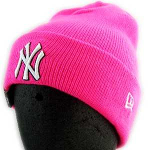 New Era KNIT CAP Pop Cuff Knit NewYork Yankees Pink ニューエラ ニットキャップ ポップ カフ ニット ニューヨークヤンキース ピンク|cio