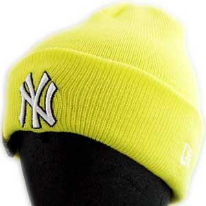 New Era KNIT CAP Pop Cuff Knit NewYork Yankees Yellow ニューエラ ニットキャップ ポップ カフ ニット ニューヨークヤンキース イエロー|cio