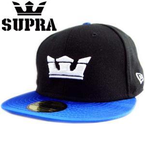 New Era×SUPRA Cap 2tone body Glass2 Black/Blue  ニューエラ×スープラ キャップ 2トーンボディ グラス2 ブラック/ブルー|cio