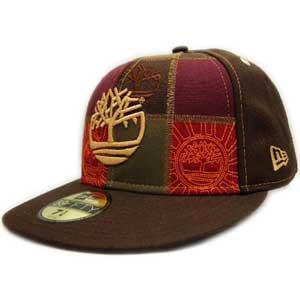 New Era×Timberland Cap WHEAT LOGO PUTCHWORK Brown/Wheat ニューエラ×ティンバーランド キャップ ウィートロゴ パッチワーク ブラウン/ウィート cio