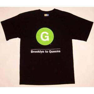NEW YORK SUBWAY LINE S/S TEE Brooklyn to Queens G Black ニューヨークサブウェイライン S/S Tシャツ ブルックリン トゥ クイーンズ ジー ブラック|cio