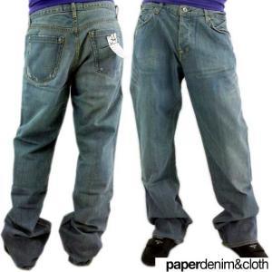 PAPERDENIM&CLOTH PAPERDENIM &CLOTH 2-LTD-25 FOLD ペーパーデニム アンド クローズ フォールド(ローファイブワイド) デニム パンツ|cio