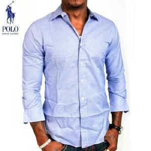 ポロラルフローレン LS 千鳥格子 クラシック フィット シャツ ブルー POLO Ralph LAUREN L/S Hound'stooth Shirt Classics fit|cio