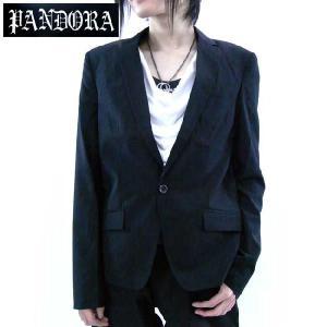 パンドラ オリジナル ノッチド ラペル 1B テーラード カラー ジャケット ブラック Pandora Original Notched Lapel 1B Tailored Collar Jacket Black|cio
