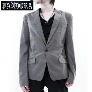 パンドラ オリジナル ノッチド ラペル 1B テーラード カラー ジャケット グレー Pandora Original Notched Lapel 1B Tailored Collar Jacket Gray(Grey)|cio