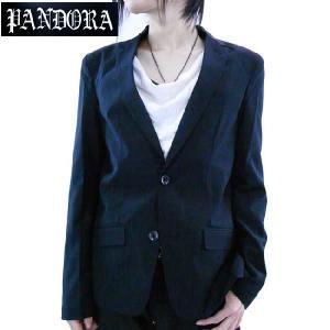 パンドラ オリジナル ノッチド ラペル 2B テーラード カラー ジャケット ブラック Pandora Original Notched Lapel 2B Tailored Collar Jacket Black|cio