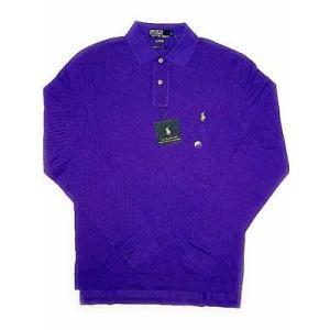 POLO RALPH LAUREN L/S POLO Shirt Purple ポロ ラルフローレン L/Sポロシャツ パープル|cio
